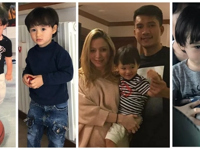 Super gwapo ng batang ito! Meet James Yap's future basketball star Baby MJ