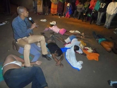 Pastor smeared with a cow dung after plans to waste a woman silly in bed turns chaotic