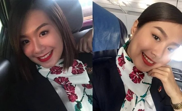"Passenger fell in love with the FA. Have we found ""baby"", Philippine Airlines' prettiest flight attendant?"
