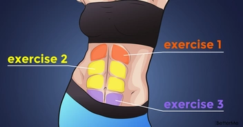 6 simple moves to tone all the abdominal muscles