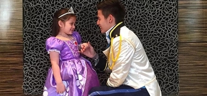 Ang sweet ni daddy! Jake Ejercito dresses up as a prince for Ellie on Halloween