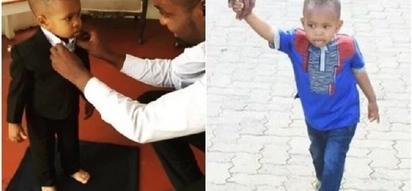 Citizen TV's Janet Mbugua's adorable son STUNS in a suit