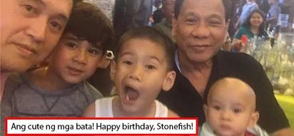 Happy family muna! Duterte attends grandson Stonefish's 1st birthday