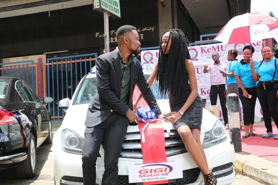 Comedian Eric Omondi lied to all of us about his Valentine's car gift to lover
