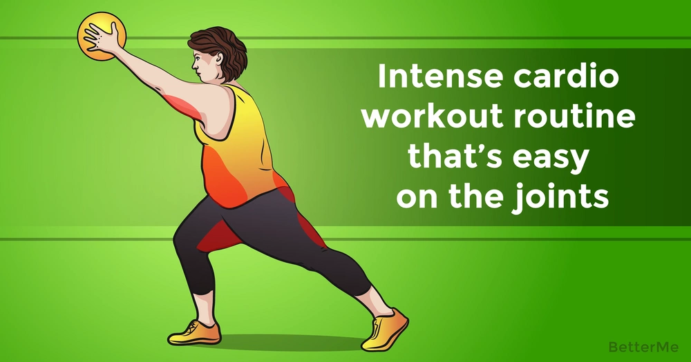 An intense cardio workout routine that's easy on the joints