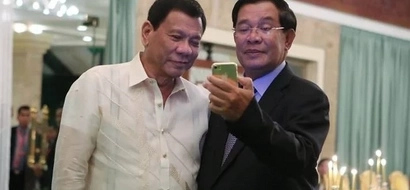 Star-struck Cambodian Prime Minister takes epic selfie with Digong