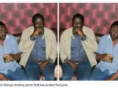 A photo of Raila having fun at a local joint after he was named NASA's flag-bearer light up the internet