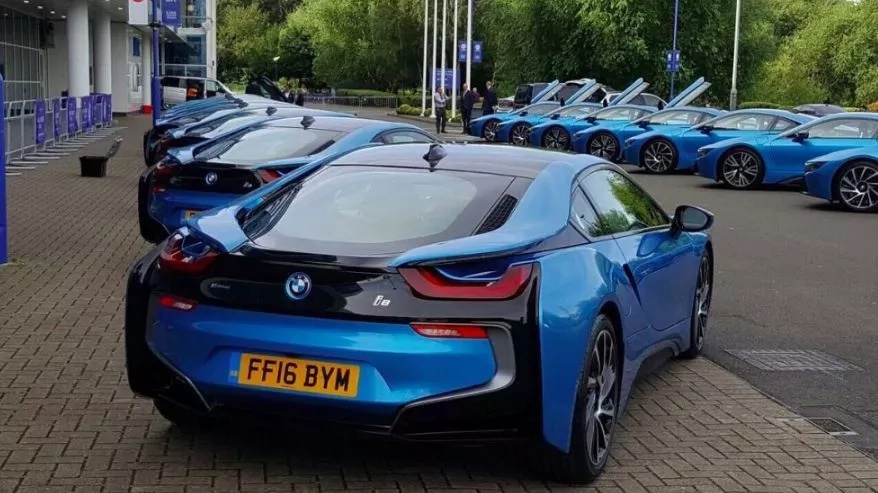 Leicester City players get super cars