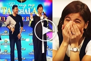 Watch talented singer Lucky Robles imitate Anne Curtis' singing voice on 'It's Showtime!'