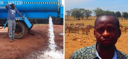The heartwarming story of Kenyan man carrying water for wild animals (photos, video)
