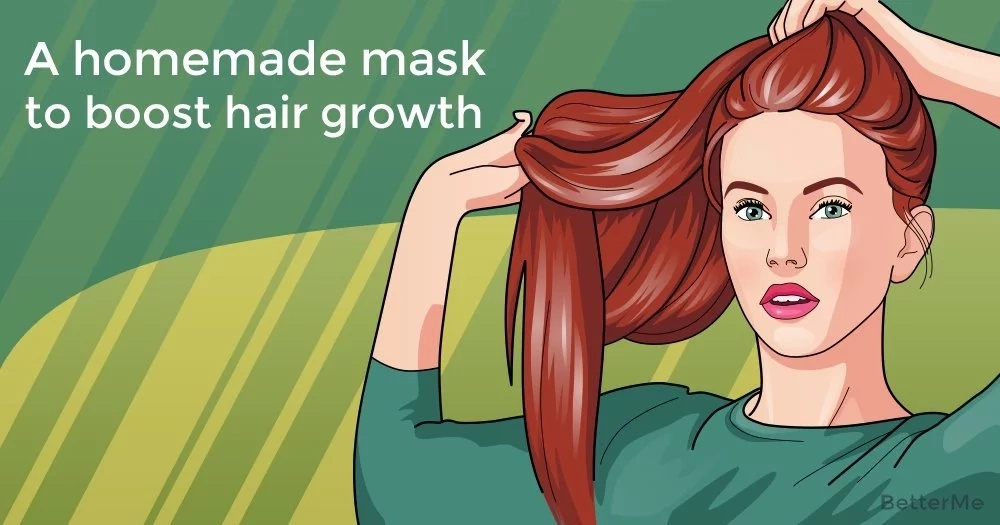 A homemade mask to boost hair growth