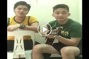 Lakas maka eargasm nito bes! Two FEU theater actors wow netizens with epic version of Bee Gees' hit