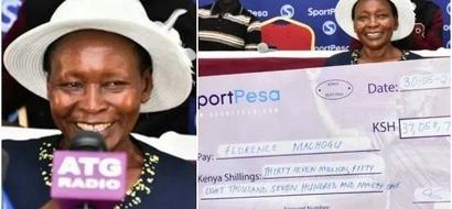 Mwanamke wa miaka 60 ashinda KSh 37 MILIONI za Sportpesa (picha)