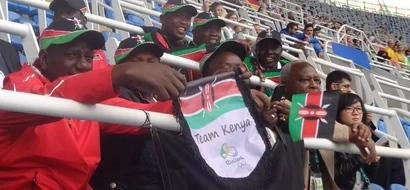 See photos of William Ruto Passionately cheering In Rio as Cheruiyot makes Kenya proud