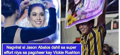 Boyfriend goals! Jason Abalos' effort in cheering for GF Vickie Rushton during Bb. Pilipinas pageant wows netizens