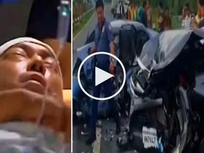 Policeman dies, Mikey Arroyo suffers head injury in brutal Pampanga car crash