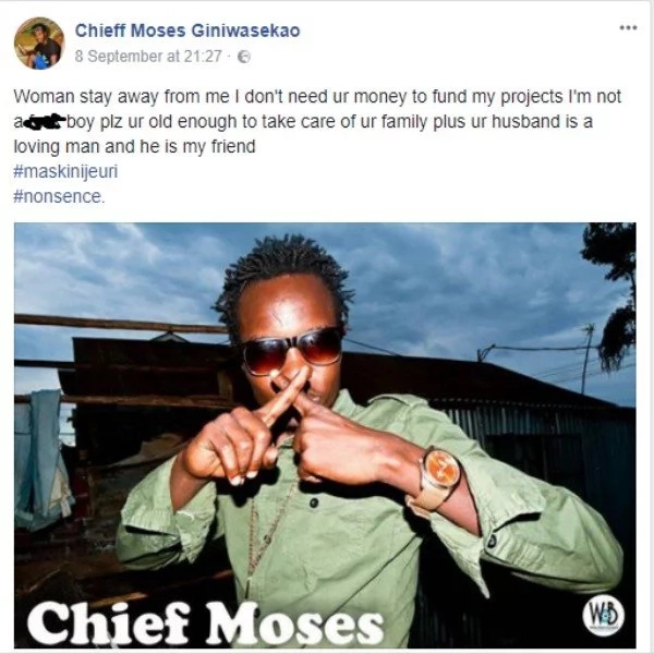Get off my back,young Grandpa Records artist slams sugar mummies