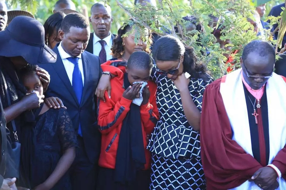 Governor Alfred Mutua and wife turn emotional during bodyguard's burial