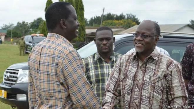 Magufuli atanisikiza kumliko Uhuru Kenyatta - Raila Odinga