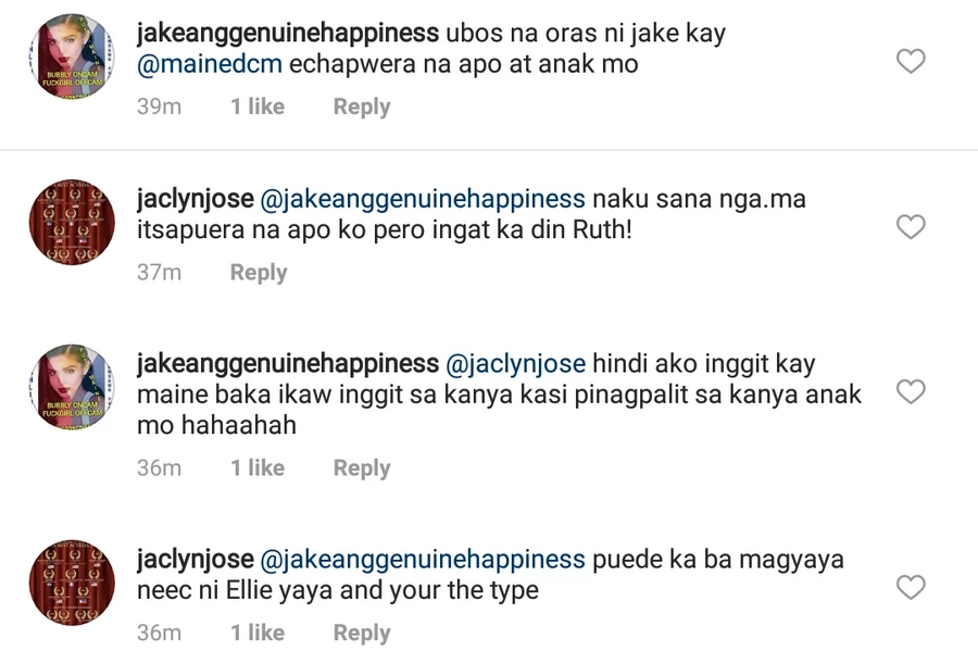 Jaclyn Jose defends for the nth time Andi against apparent 'Jamaine' fan