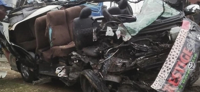 Four dead, four seriously injured in a grisly head on collision accident