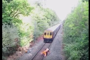 Heroic Railway Worker Saves A Man From A Speeding Train