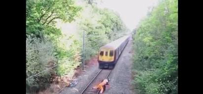 Heroic Railway Worker Saves A Man From A Speeding Train