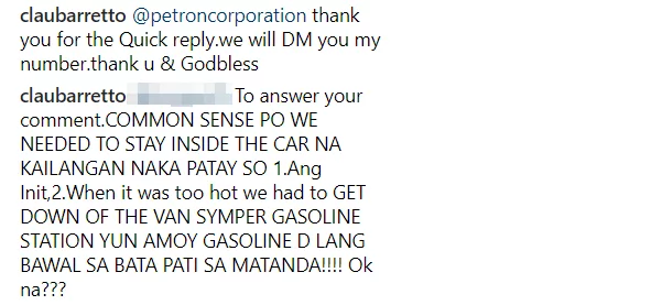 Beast mode tuloy siya! Claudine Barretto rants against the attitude of staff of a gasoline station