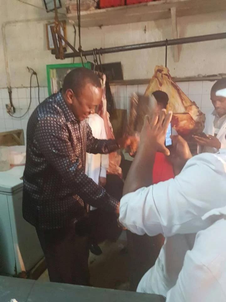 Picha za Rais Kenyatta 'kibandani' Nairobi