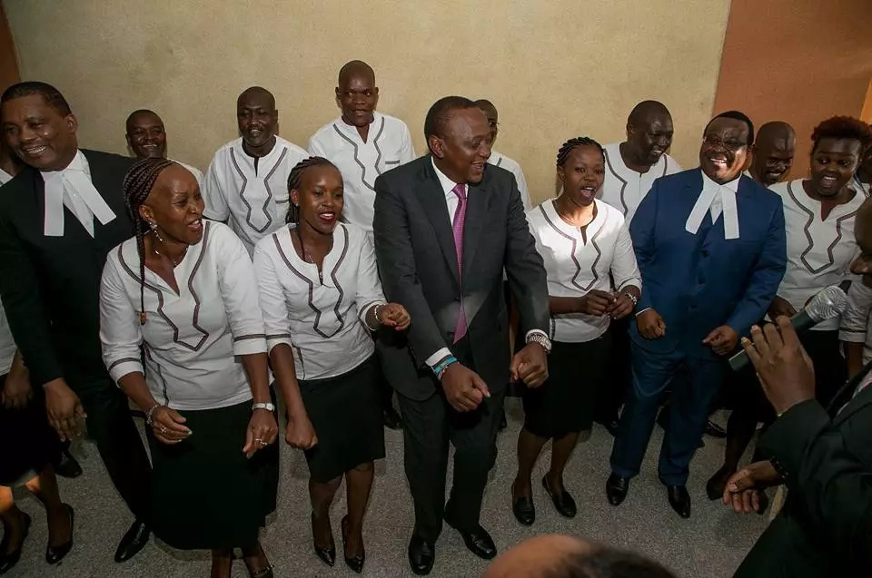 Uhuru breaks in a famous song lighting up parliament