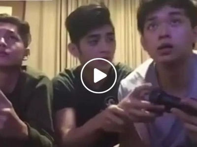 Handsome Pinoys re-enact how brothers fighting over computer games is like