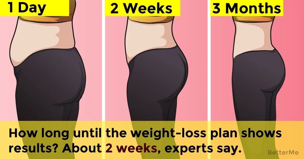 How long until the weight-loss plan shows results? About 2 weeks, experts say