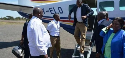 See Nigeria Ex-President Goodluck Jonathan Jet Into Kenya With Family For Holiday