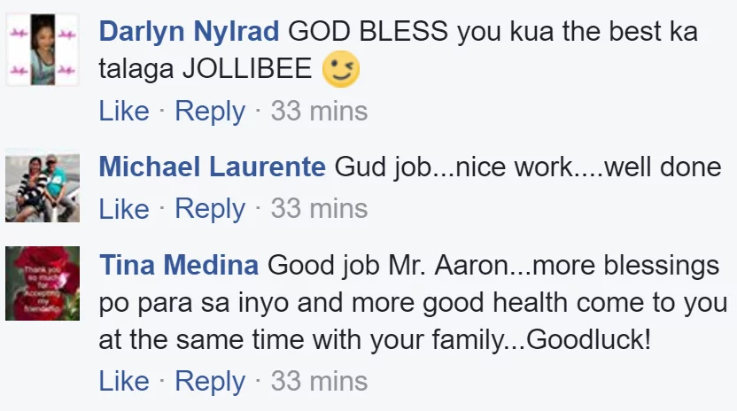 Jollibee employee gains praises for doing extra effort to help a distressed mom