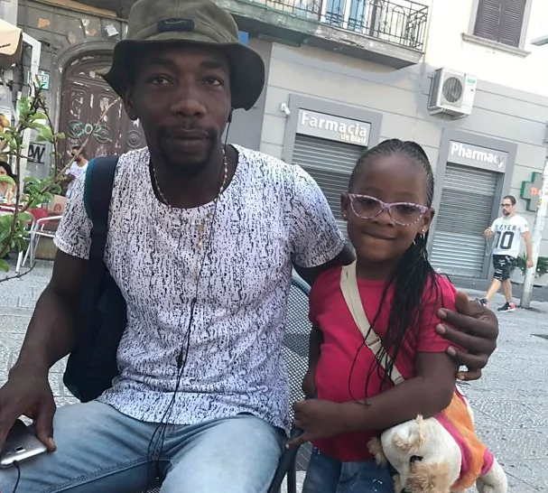 Yaya and his daughter Deborah. Photo: BBC