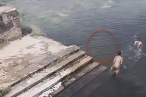 Two Kids Play In Water — When GHOST Creature Appears...