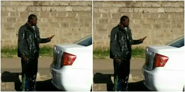 Nairobi Uber driver attacked and 'washed' with urine(photos)