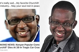 Popular comedian Churchill 'killed' online by bloggers