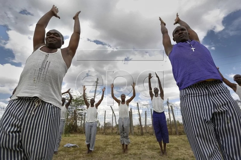 Yoga in a Kenyan prison you have never seen before