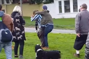 Man Attacks A Dog In A Dog Park, Gets Attacked By Crowd of Dog Owners!