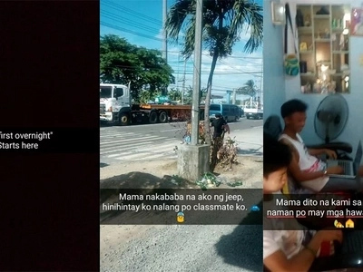 Effort! Netizen hilariously documents his first overnight with classmates for strict parents