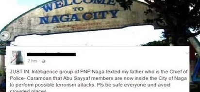 Police chief in trouble after daughter posts Abu Sayyaf threats