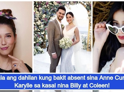 Viral photos reveal reason why Anne Curtis and Karylle are absent at Billy Crawford and Coleen Garcia's wedding