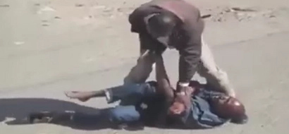 Police officer risks his life confronting heavily armed criminal in Eastleigh (video)