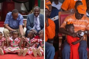 Raila with kids vs Uhuru with kids, who did it better? (photos)