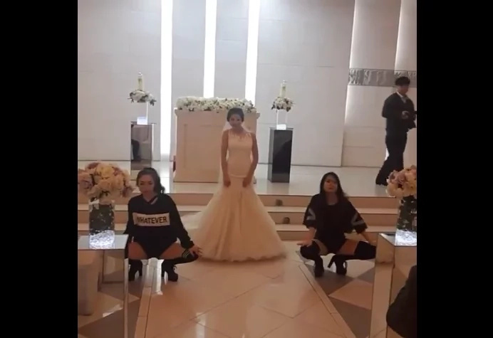 "Stunning bride entertained netizens with her ""Boombayah"" dance moves during wedding."