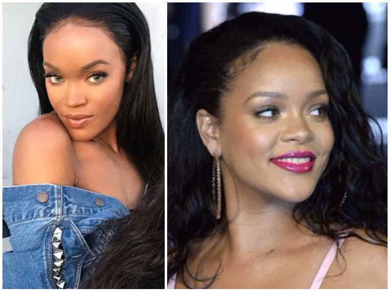 Rihanna's identical twin sister causes confusion as people struggle to tell who between them is singer