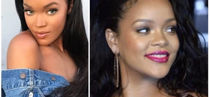 Rihanna's identical twin sister? Girl looks so much like Rihanna it's almost impossible to tell them apart