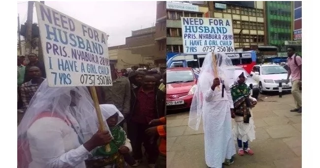 Nairobi woman who wanted a husband using a placard reveals the man she will be dating (video)