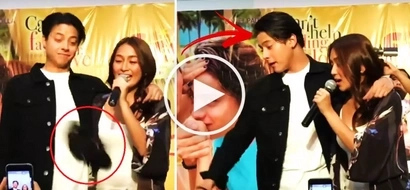 Somebody from the audience threw a cap at Daniel Padilla & Kathryn Bernardo during their mall performance. KathNiel's reaction will shock you!